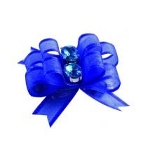 2 Bows Blue w.Turquois stone