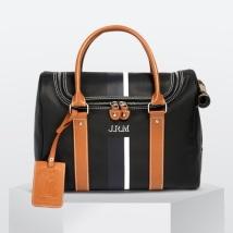 Elegant Sport Pet Carrier  Leather details - Black