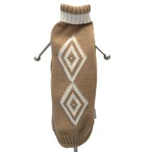 Merino sweater rhombus - camel