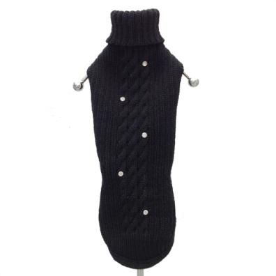 Cortina merino sweater w crystals - black