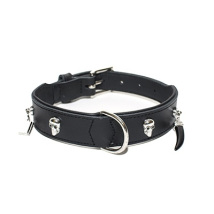Collar Christal Gothic Black Leather