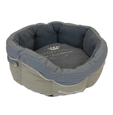 Round canvas Basket Grey