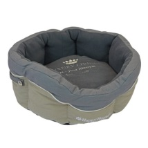 Round canvas Basket Grey