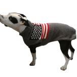 Grey Sweater USA Flag