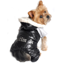 Winter 4-legged Cozy Suit - Black/Grey
