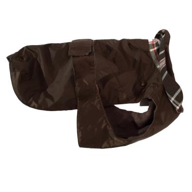 Pug/Fr.Bulldog Brown Trench w. detachable lining