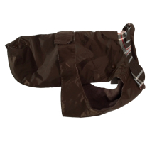 Pug/Fr.Bulldog Brown Trench w. detachable lining
