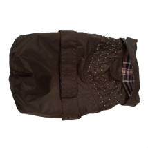 Pug/Fr.Bulldog Brown Trench w. Studs and Detachable Lining