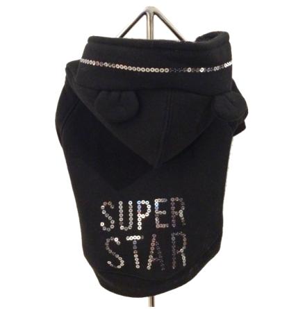 Hoodie Super Star Black