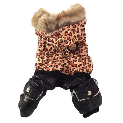 Leopard Cosy 4-legged w Fur inside