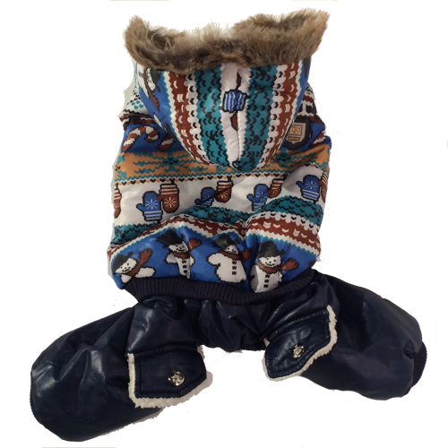 Blue Winter Cosy 4-legged w Fur inside