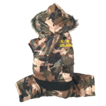 Light Padded 4-legged Camo Coat