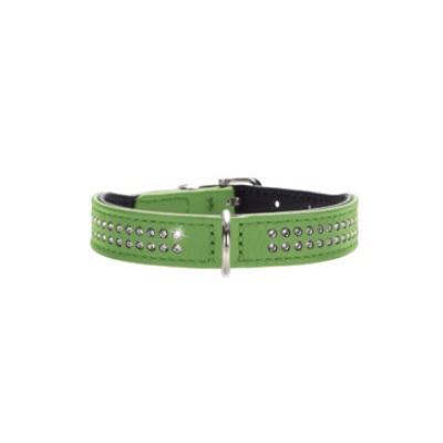 Necklace Nappa w Swarovskies - Green