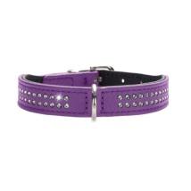 Necklace Nappa w Swarovskies - Purple