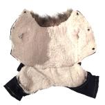 Denim 4-legged Suit w Skulland Fur inside
