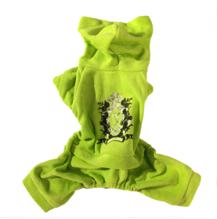 Lime cozy 4-legged Suit