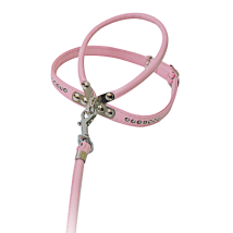 HARNESS W LEASH PINK W RHINESTONES