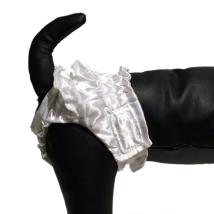 White puppy pants - XXS 15-29cm