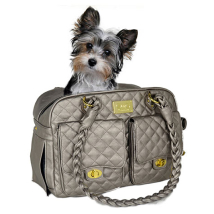 Monaco Quilted Bag Shiny Grey