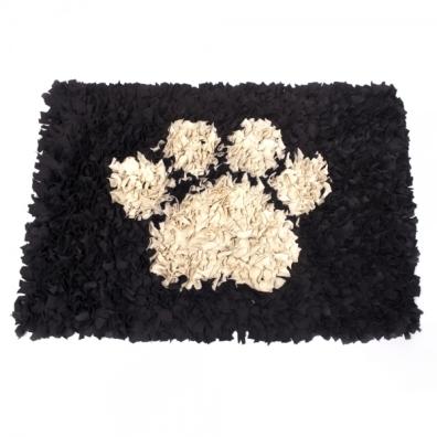 Handmade Pet Rug Beige Paw