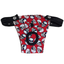 Hygenic pants red w skull