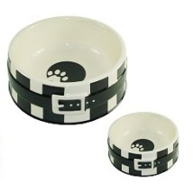 Dog Bowl w Belt - Black