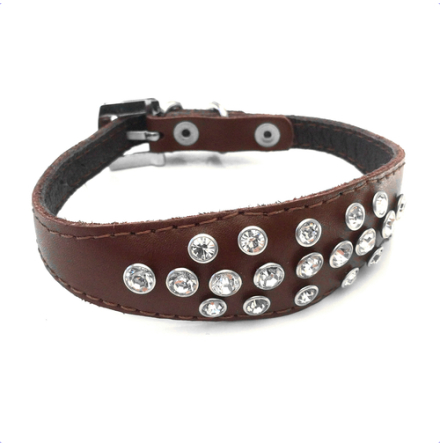 Nina Crystal Collar - Brown
