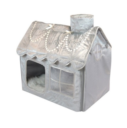 Luxury Living Villa - Silver/Grey 52x36x49cm