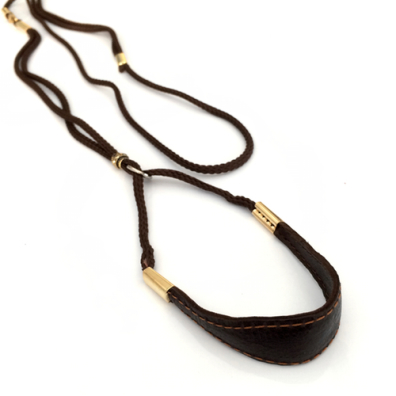Show Leash Brown Leather