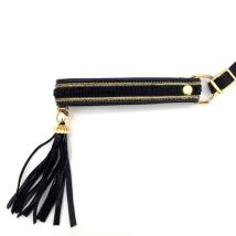 Half Check Leather Collar Black Velvet