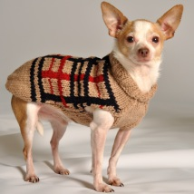 Sweater Beige Checked