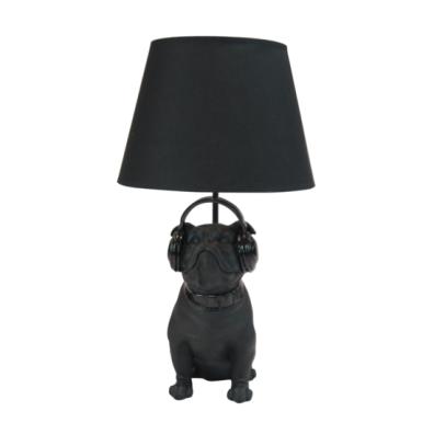 Lamp Bulldog Black 31,5x30x54cm