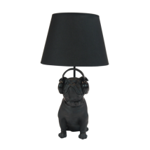 Lamp Bulldog Black
