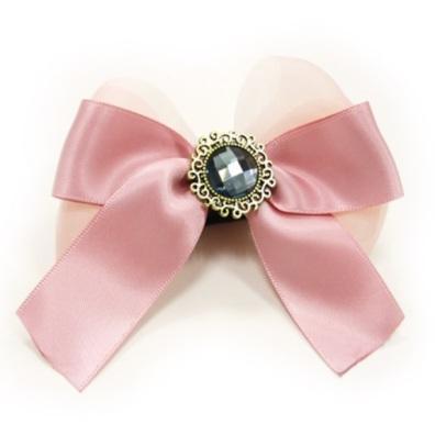 Bow to put on Collar/Harness - Pink Diamond