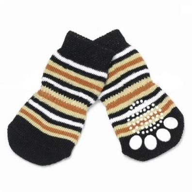 Striped Dog Socks 4pcs