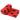 Light dog fleece blanket - red 70x60cm