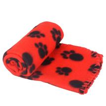 Light dog fleece blanket - red