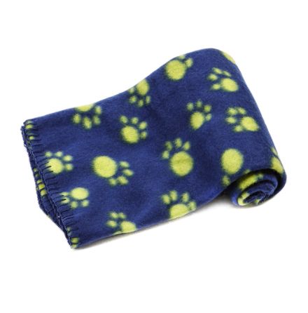 Light dog fleece blanket - blue 70x60cm