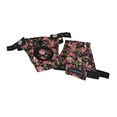 Hygenic pants black with roses