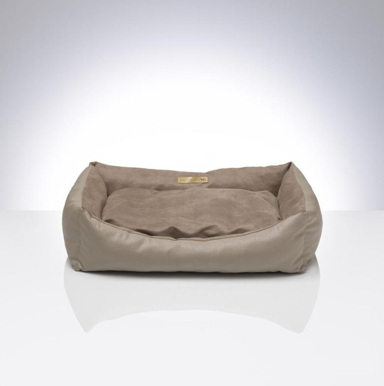 Beige Dog Bed Art Leather