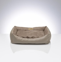 Beige Dog Bed Art Leather