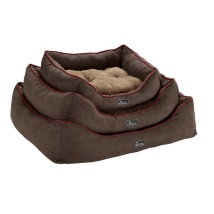 Dog Bed Suede Brown