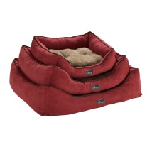 Dog Bed Suede Soft Red