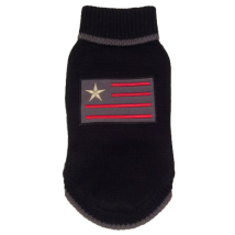 Sweater w Flag - Black
