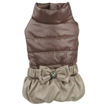 Light Elegant Fleece Coat - Brown