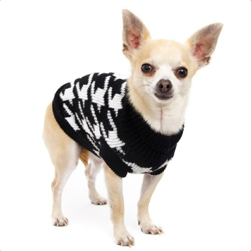 Sweater with Dog Tooth Patern