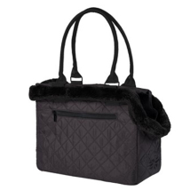 Black Bag w. removable fur 35x27x18