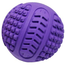 Rubber ball w squeaker and spikes - Purple