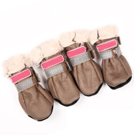 Boots w soft fur inside - Coffee Latte 4 Pcs
