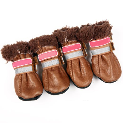 Boots w soft fur inside - Brown/Brown 4 Pcs
